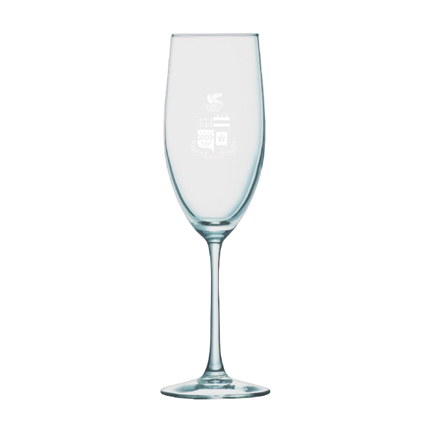 Image For Champagne Flute with Crest