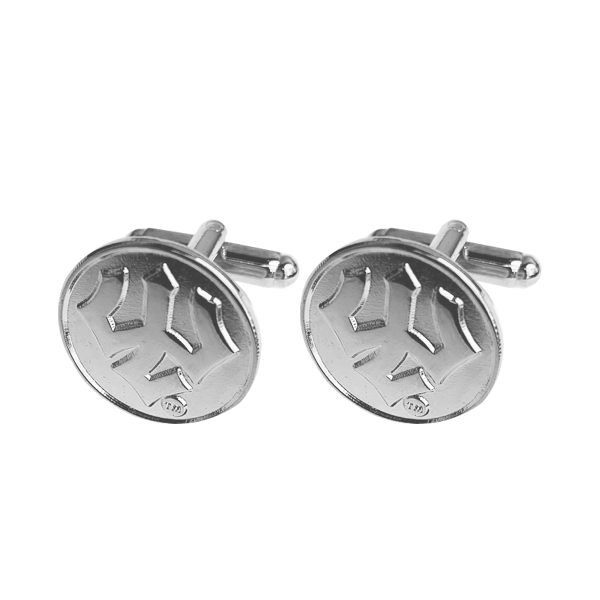 Cover Image For Trident Cufflinks, Silver or Gold