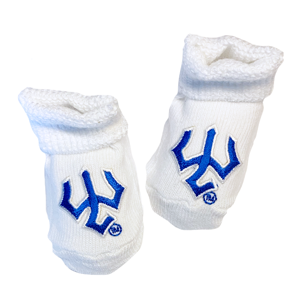Image For Trident Newborn Booties, White