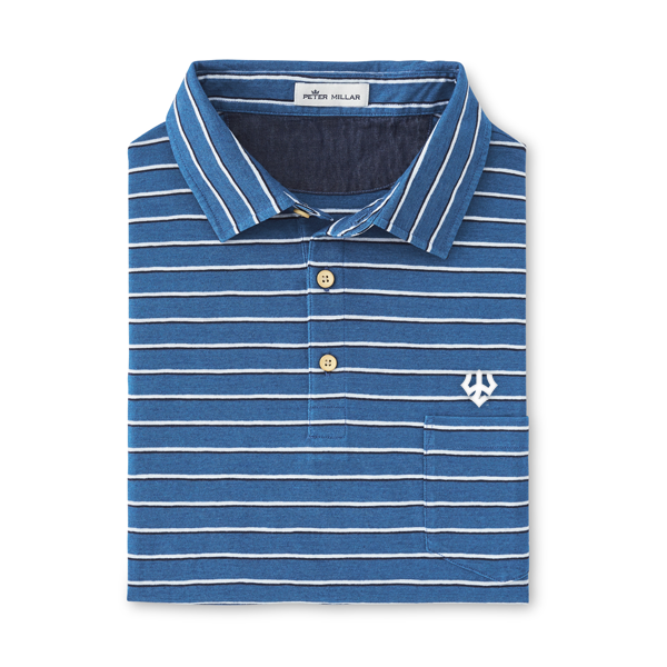 Image For Peter Millar Palmetto Double-Stripe Polo