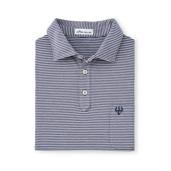 Image For Peter Millar Clutch Stripe Cotton Blend Pique Knit Polo