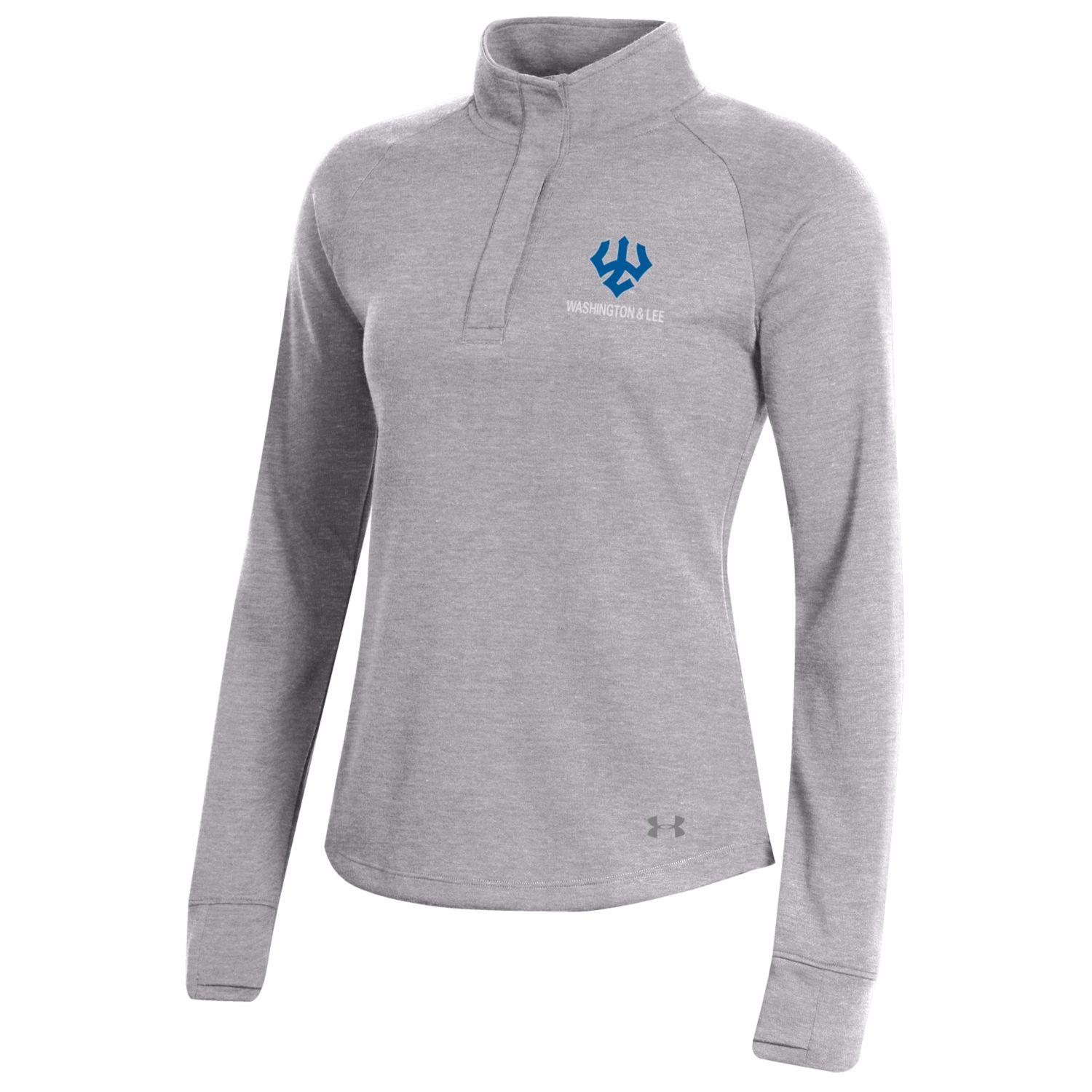 Image For Under Armour Doubleknit 1/4 Snap, Light or Dark Grey