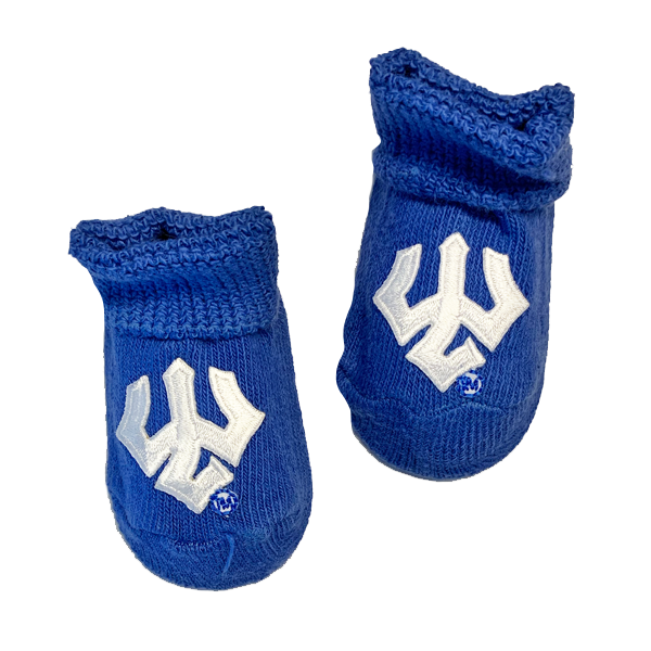 Image For Trident Newborn Booties, Royal