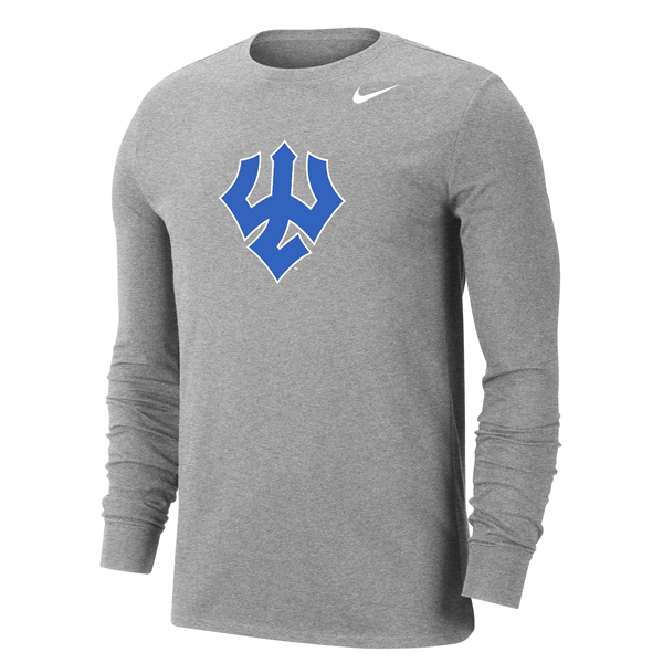 Image For Nike Cotton DriFit Long Sleeve Trident Tee