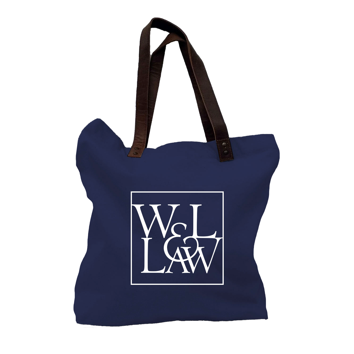 Image For Canvas Law Tote w/Leather Handles