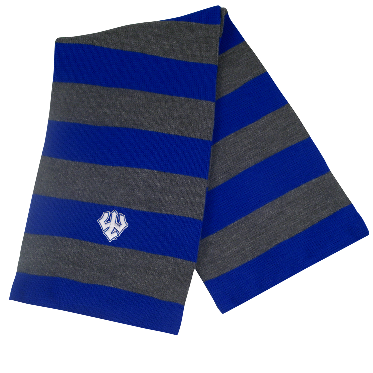 Image For Striped Rugby Scarf, Navy or Royal