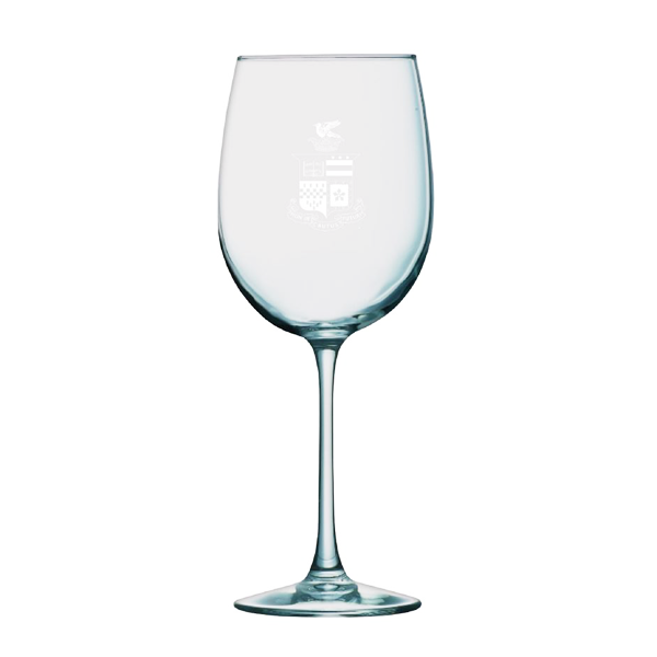 Cover Image For Sanctuary White Wine Glass with Crest