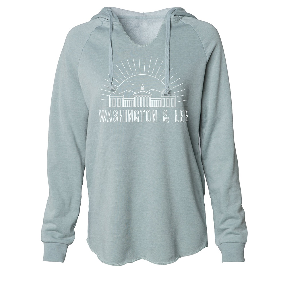 Image For Uscape Washed Skyline Hoodie, Blue or Sage