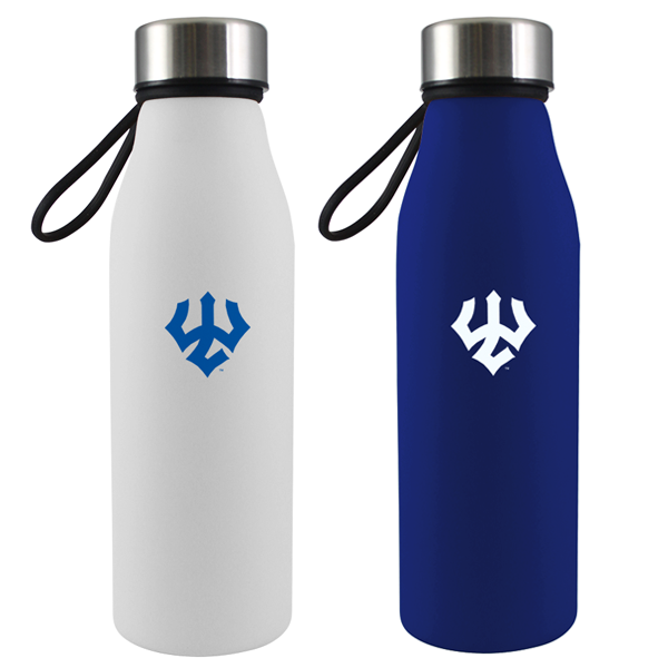 Image For Glass Water Bottle, Blue or White