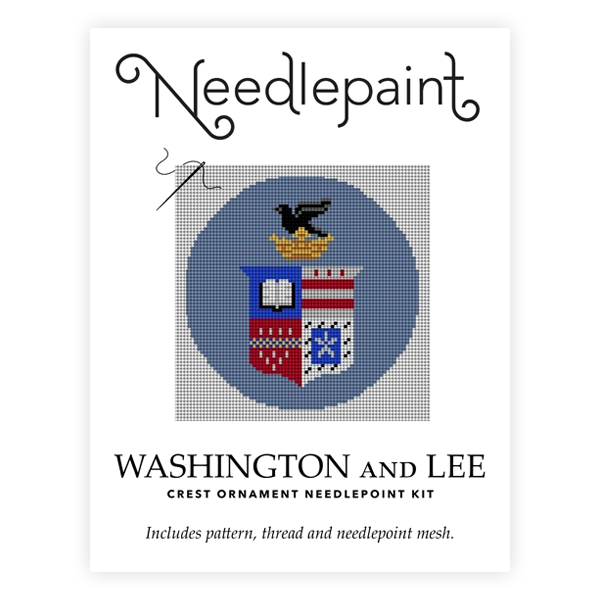 Image For Needlepaint Crest Needlepoint Ornament Kit