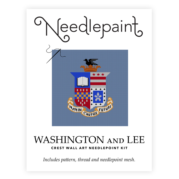 Image For Needlepaint Crest Wall Art Needlepoint Kit
