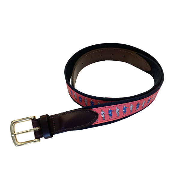 Image For Vineyard Vines George and Bob Belt, Pink
