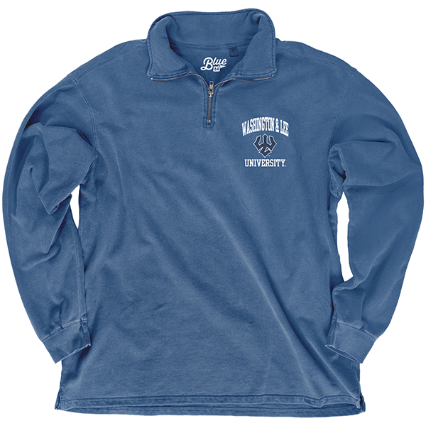 Image For Blue 84 Dyed Ringspun Fleece 1/4 Zip