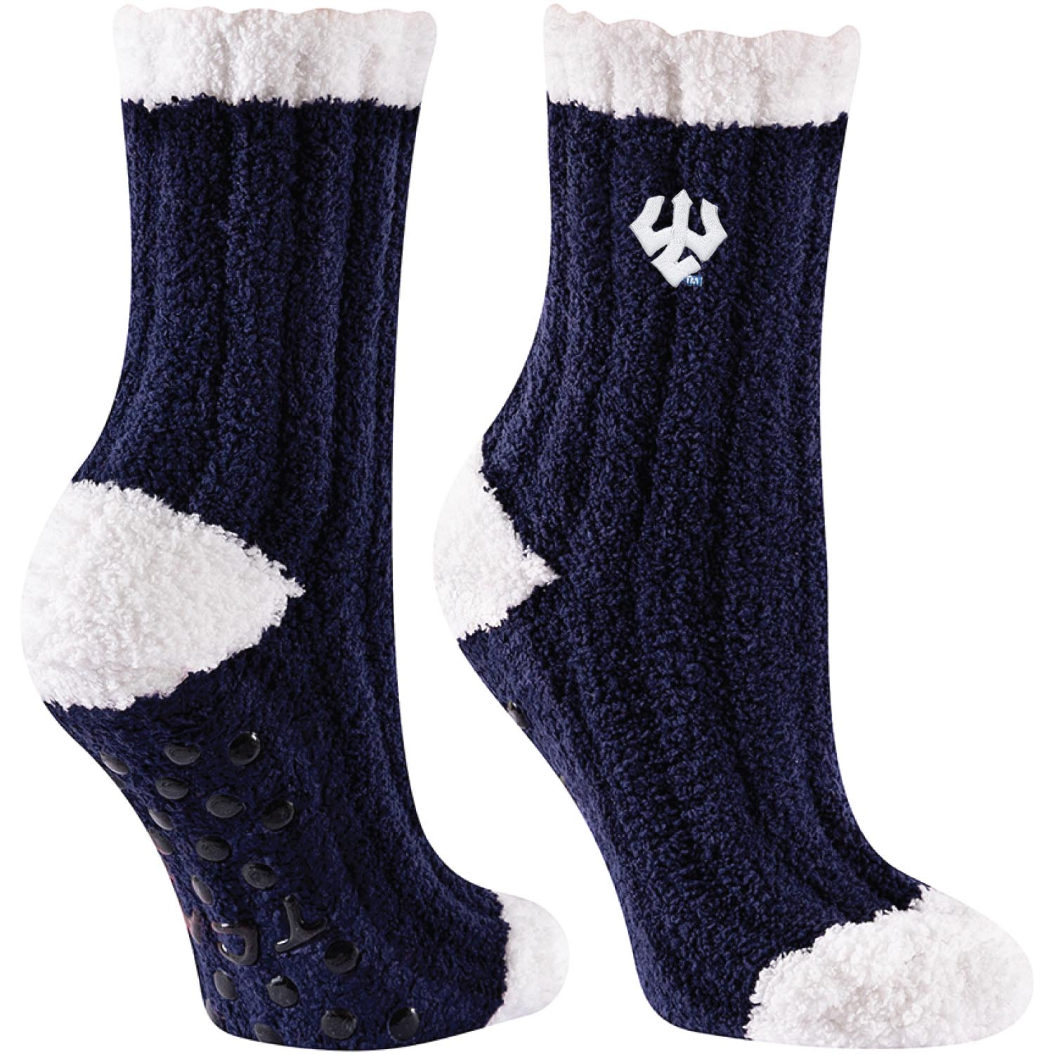 Image For Fuzzy Socks, Navy or Royal