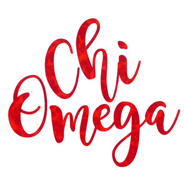 Image For Chi Omega Sticker