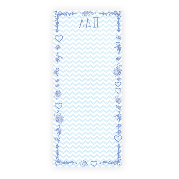 Image For Alpha Delta Pi Chevron Notepad