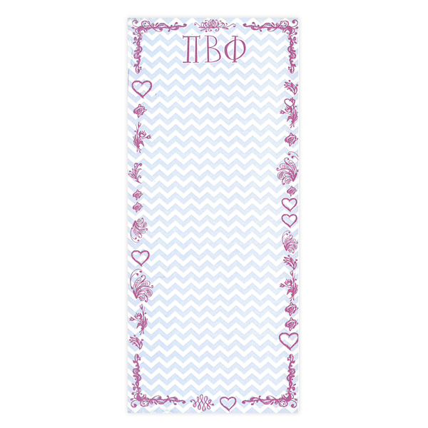 Image For Pi Beta Phi Chevron Notepad