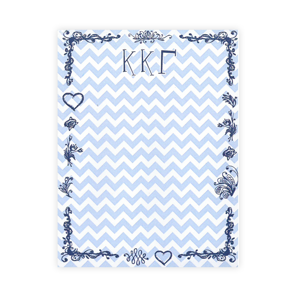 Image For Kappa Kappa Gamma Chevron Notepad