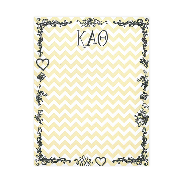 Image For Kappa Alpha Theta Chevron Notepad