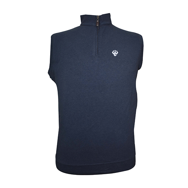 Image For Horn Legend Duo Tone Blended Cotton Vest, Navy