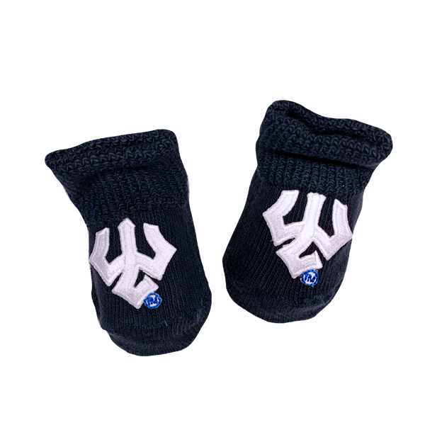 Image For Trident Newborn Booties, Navy