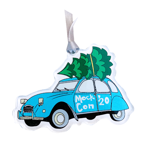Image For Acrylic Mock Con VW Beetle Ornament