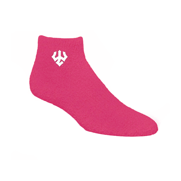 Image For Fuzzy Socks, Maroon or Pink