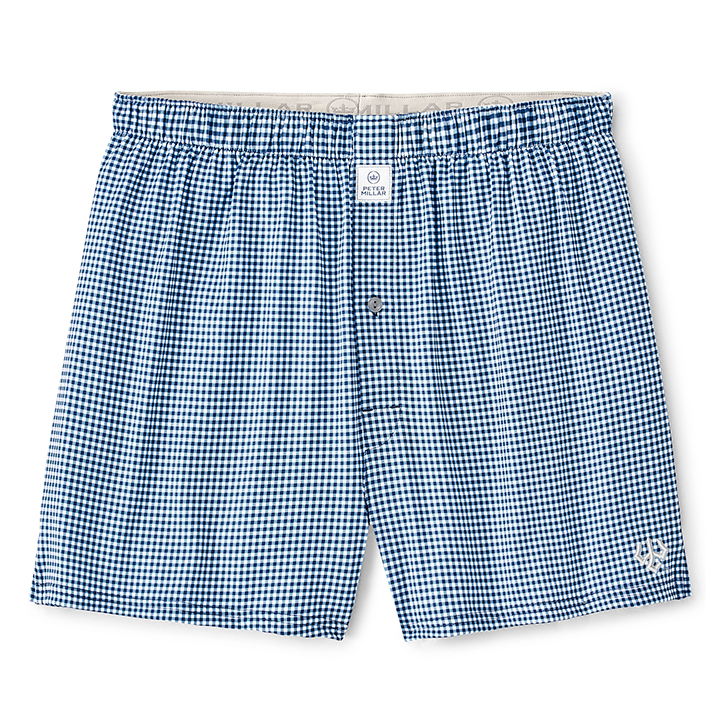 Image For Peter Millar Gingham Boxers