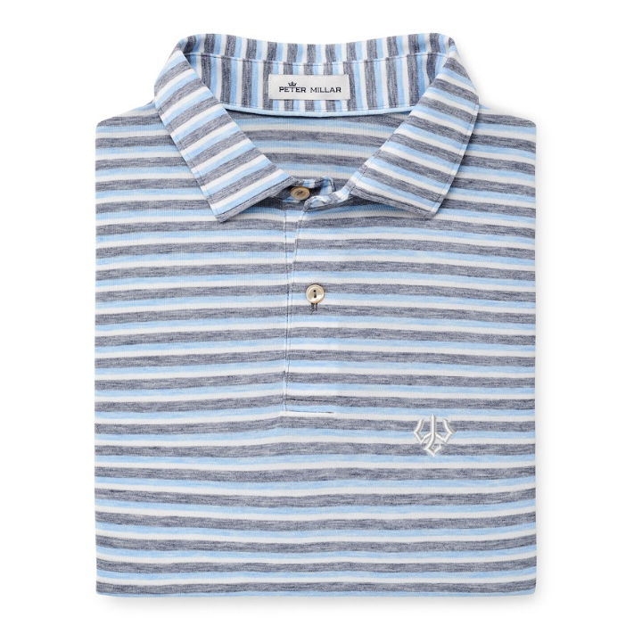 Cover Image For Peter Millar Mélange Natural Touch Striped Polo