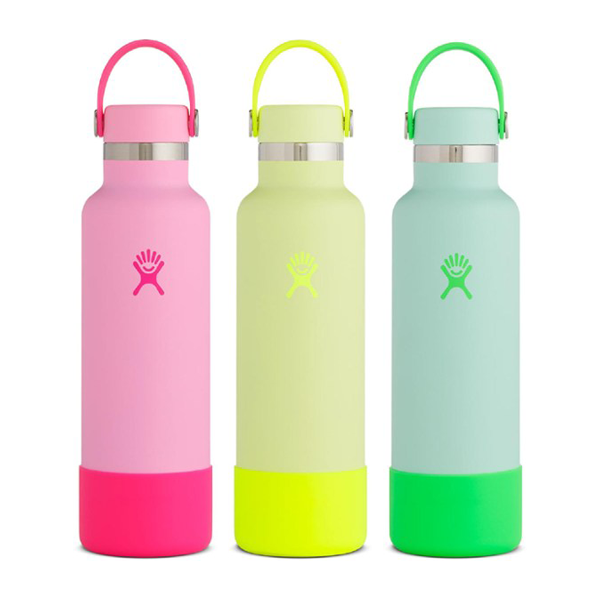 Image For Hydroflask Prism Pop Water Bottle, Green, Yellow, or Pink