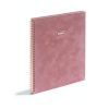 Cover Image for Poppin Velvet Spiral Notebook, Pink or Grey