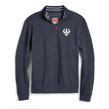Image For League Tri-Blend 1/4 Zip, Navy