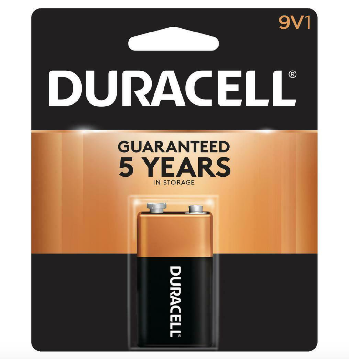 Image For Duracell 9 Volt Battery