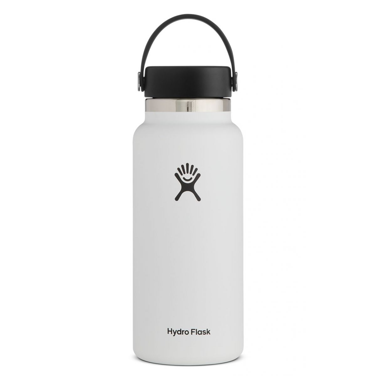 Image For Hydroflask Insulated Wide Mouth Water Bottle, White