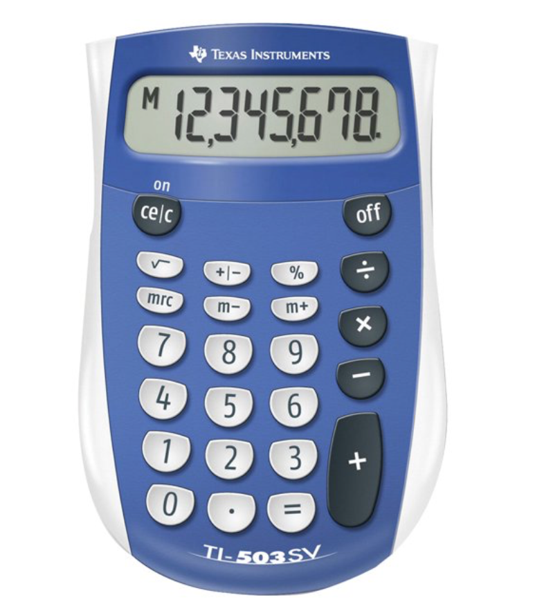 Image For TI-503 Basic Calculator