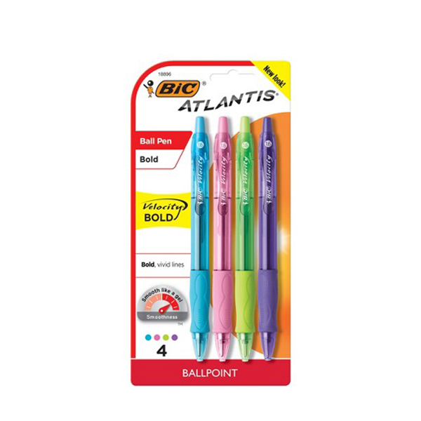 Image For BIC Atlantis Velocity Retractable Ballpoint Pens