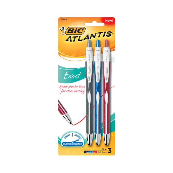 Image For BIC Atlantis Exact Retractable Ballpoint Pens
