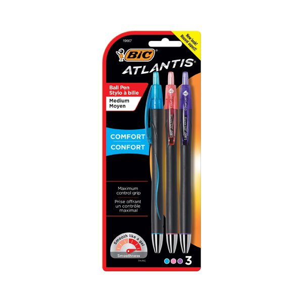Image For BIC Atlantis Comfort Retractable Ballpoint Pens