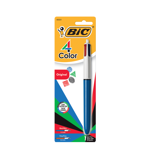 Image For BIC Four Color Retractable Ballpoint Pen