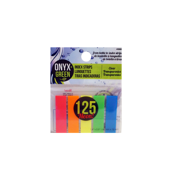 Image For Onyx and Green Self-Adhesive Index Strips
