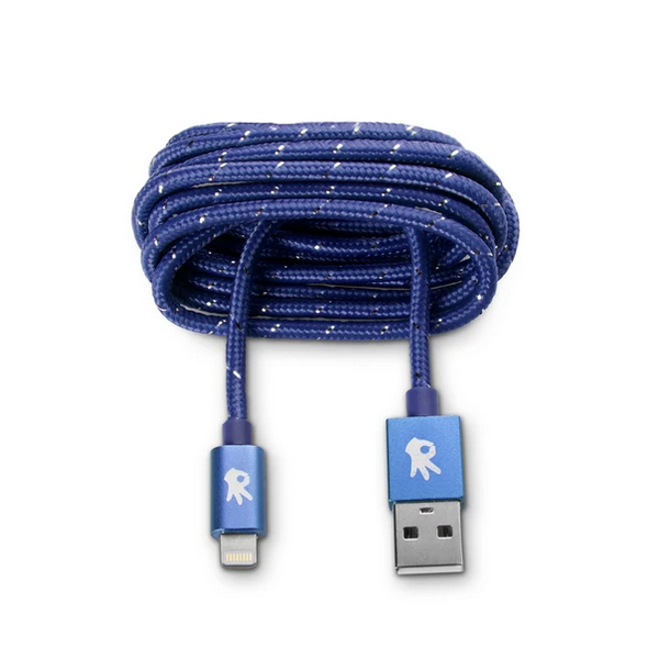 Image For OnHand Everlasting Nylon Cable Charger, Blue