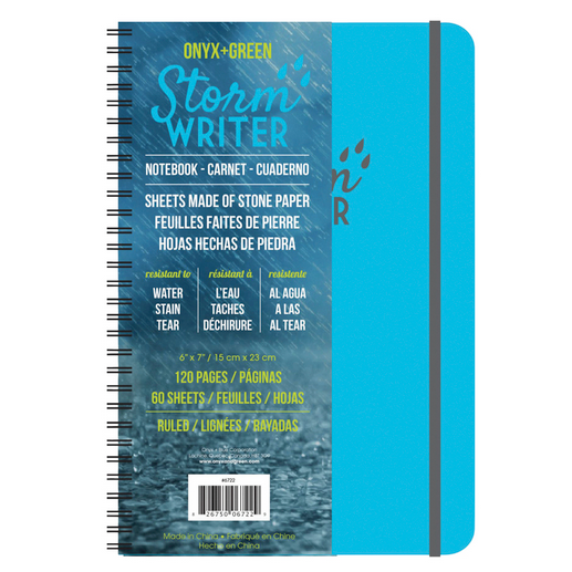 Cover Image For Onyx and Green Storm Writer Notebook, Medium
