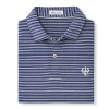Cover Image for Peter Millar Clutch Stripe Cotton Blend Pique Knit Polo