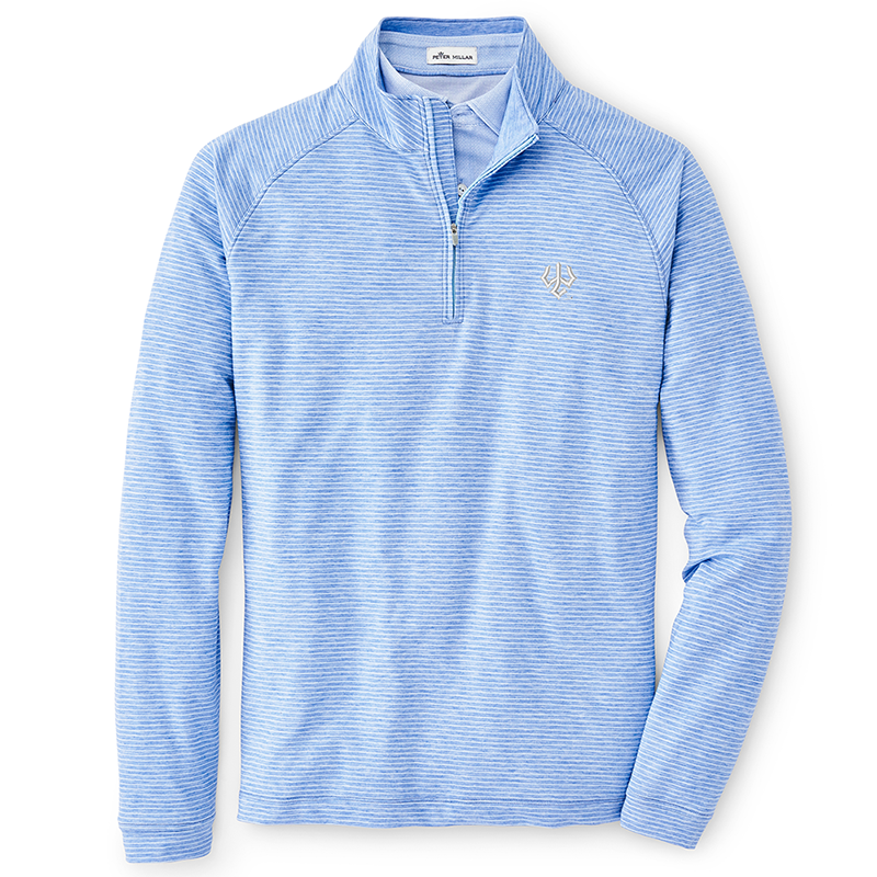 Image For Peter Millar Natural Touch Striped 1/4 Zip