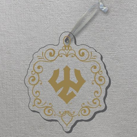 Image For Acrylic Golden Trident Ornament