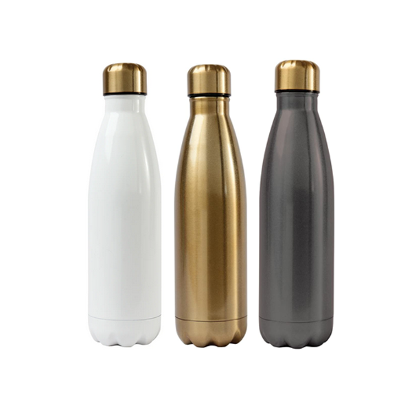Image For Alexandra and Company Water Bottle, Silver, Grey or White