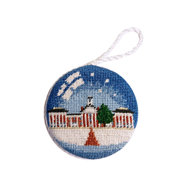 Image For Smathers & Branson Colonnade Snowglobe Ornament