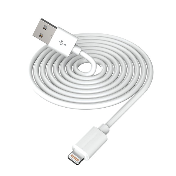 Image For 10' Lightning Charge Cable, White
