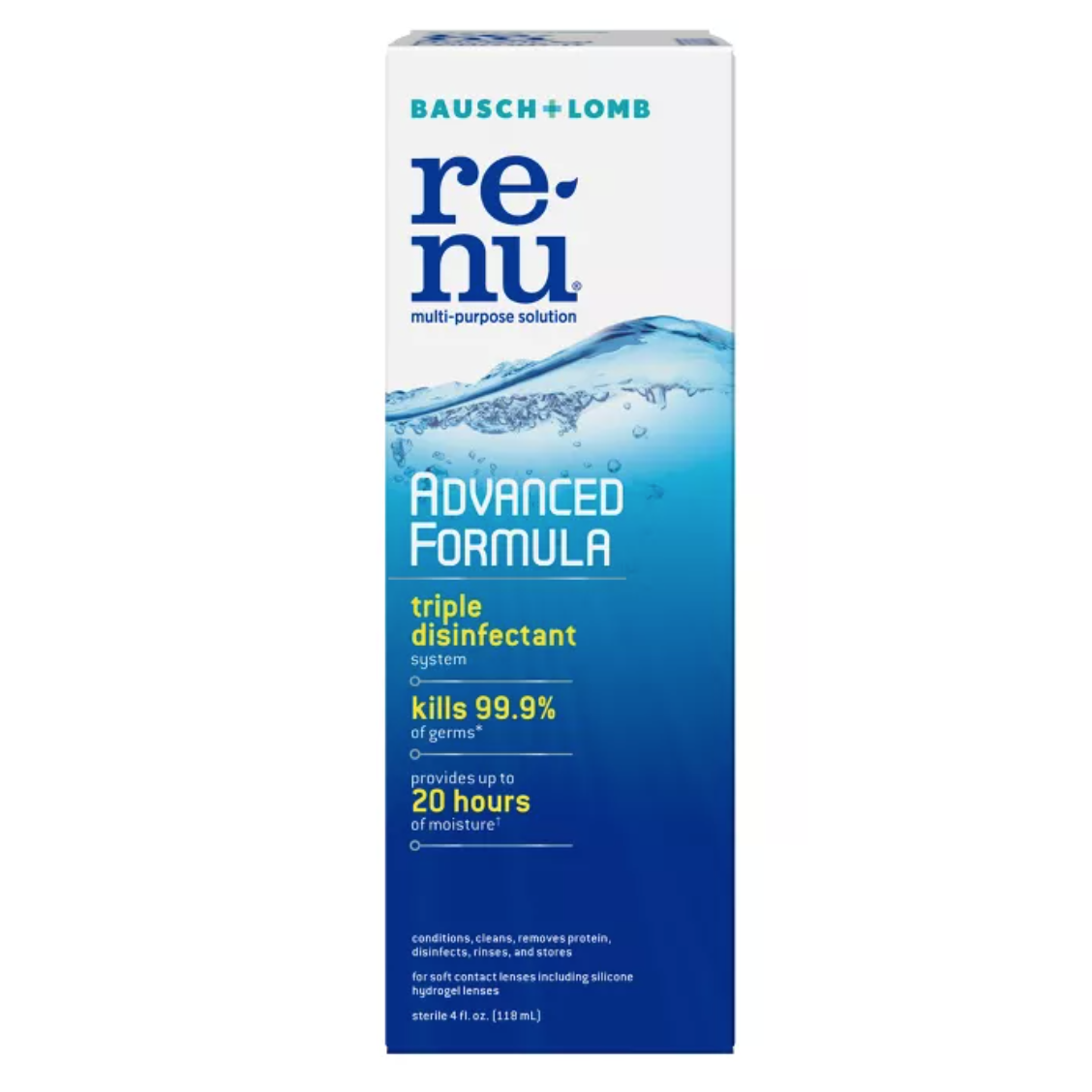 Image For Renu Contact Solution, Advanced Triple Disinfectant Formula