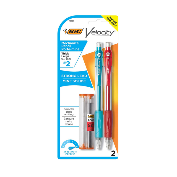 Image For BIC Velocity Mechanical Pencil, .9mm